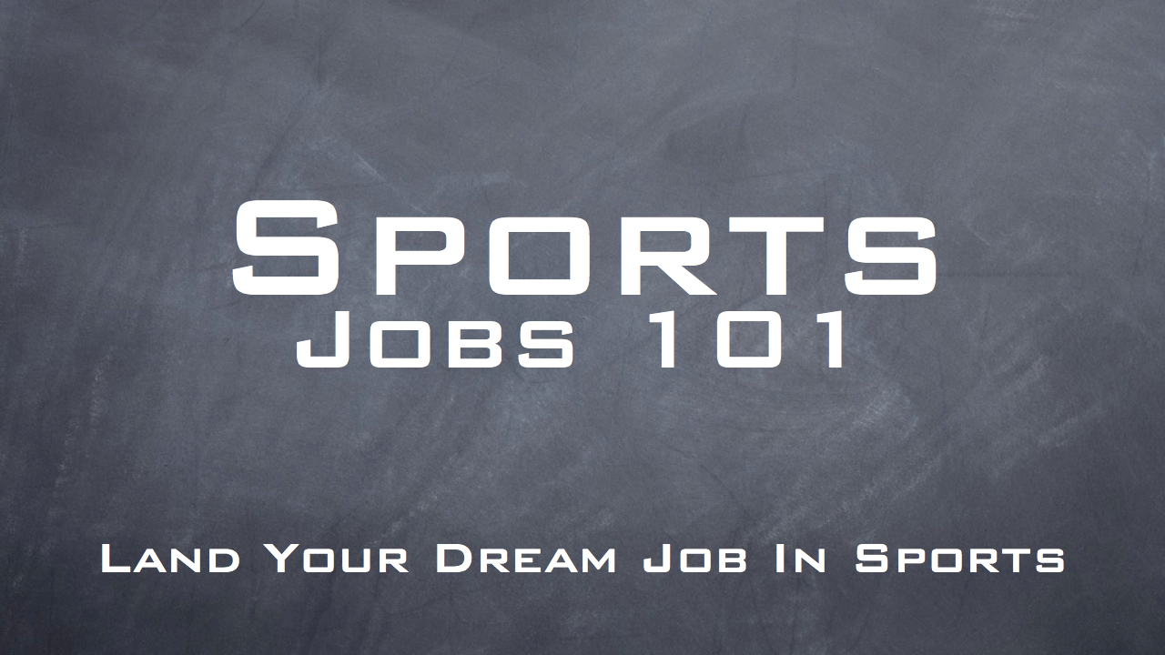 Sports Jobs 101